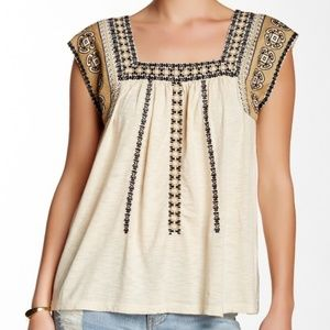 Lucky Brand Bohemian Embroidered Top *NWT*
